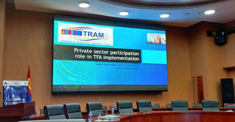 "SUCCESSFULLY CONDUCTED ""NATIONAL TRAIN-THE-TRAINERS PROGRAM ON THE WTO TFA OF MONGOLIA"