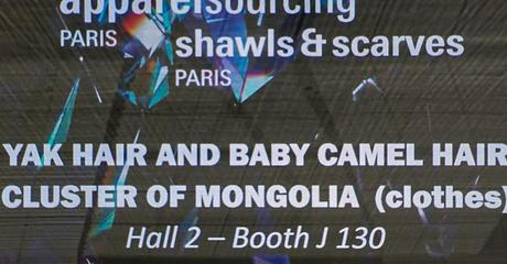 MONGOLIA ON STAGE  - APPAREL SOURCING PARIS (Jan 2020)